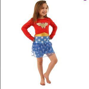 Girl's Wonder Woman Red & Blue tutu nightgown
